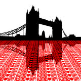 Tower Bridge happy valentines Royalty Free Stock Photos