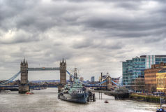 Tower bridge in hdr Stock Photography