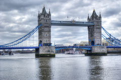 Tower bridge in hdr. Beautiful view of the tower bridge in hdr. London Royalty Free Stock Image