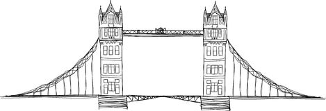 Tower bridge illustration Royalty Free Stock Images