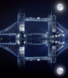 Tower Bridge In London By Night Royalty Free Stock Photos