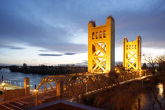 Tower Bridge In Old Sacramento Stock Image