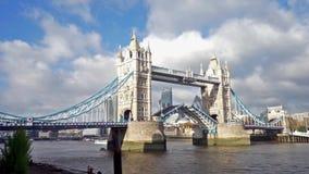 Tower Bridge Lift, Day stock video