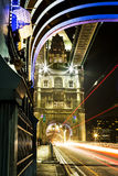 Tower Bridge Light Trails Stock Images
