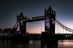 Tower Bridge and the Thames, London, UK royalty free stock photo