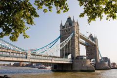 Tower Bridge of London. Shot in London at a sunny day Royalty Free Stock Photography
