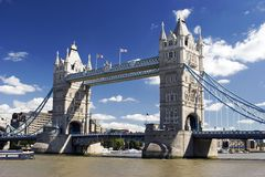 Tower Bridge, London. A view of Tower Bridge, London, U.K Royalty Free Stock Image