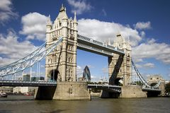 Tower Bridge, London. A view of Tower Bridge, London, U.K Royalty Free Stock Photography