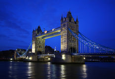 Tower Bridge in London. Tower Bridge over the River Thames in London royalty free stock image