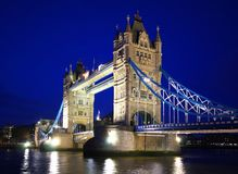Tower Bridge in London. Tower Bridge over the River Thames in London stock photo