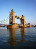 Tower bridge in London. London Tower, old bridge on the of the river Thames stock photography