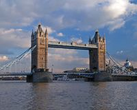 The tower bridge in london stock image