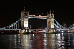 The tower bridge in London  Stock Images