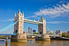 Tower Bridge in London. UK Stock Photo