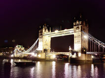 Tower Bridge London. At night Stock Photography