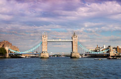 Tower Bridge in London. Royalty Free Stock Photos
