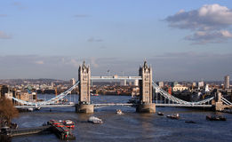 Tower Bridge London. Viewed from the Northern&Shell building Stock Photos