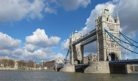 Tower bridge London. Over river thames UK Royalty Free Stock Image
