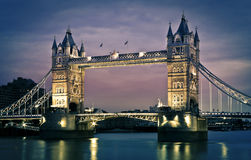 Tower Bridge, London. London's Tower Bridge at twilight royalty free stock image