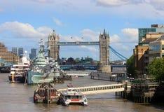 Tower Bridge in London, port Stock Photo