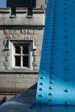 Tower Bridge, London. Unusual detail view Royalty Free Stock Photo
