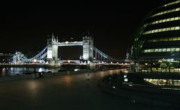 Tower Bridge in London. At night Stock Images