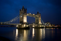 Tower Bridge in London. Tower Bridge over the River Thames in London at night Stock Images