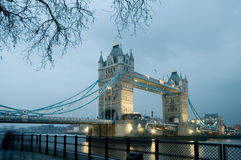 Tower Bridge in London. Tower Bridge over the River Thames in London at evening Royalty Free Stock Image