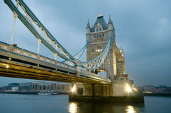 Tower Bridge in London. Tower Bridge over the River Thames in London at evening Royalty Free Stock Photo