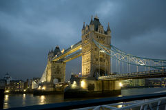 Tower Bridge in London. Tower Bridge over the River Thames in London at evening Royalty Free Stock Photography