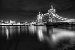Tower Bridge London. Night scene Stock Photography