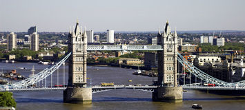 Tower Bridge, London. Tower Bridge taken from distance Royalty Free Stock Images