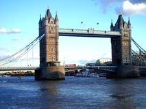 Tower bridge of London. Tower bridge over the Thames in London with blue sky in the background Stock Photos
