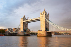 Tower bridge in London in the afternoon sunlight Royalty Free Stock Images
