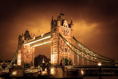 Tower Bridge, London. Beautiful Tower bridge lightened up in London stock photography