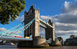 The Tower Bridge in London in a beautiful summer day, England, United Kingdom. Tower Bridge in London in a beautiful summer day, England, United Kingdom It is a Stock Images