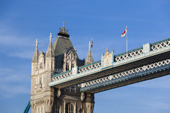 Tower Bridge in London with blue sky Stock Photography