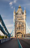 Tower Bridge in London with blue sky. Long exposure shot of the Tower Bridge in London with blue sky Royalty Free Stock Photos