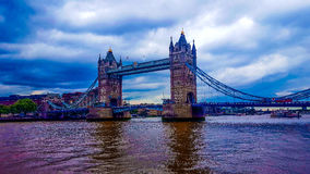 Tower Bridge. London central tower bridge blue sky water Stock Images