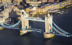 Tower Bridge in London city Stock Photos