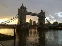 Tower Bridge in London City stock photography