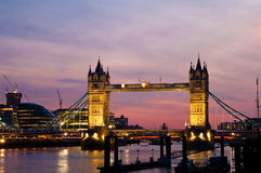 Tower Bridge and the London City Hall at sunset Royalty Free Stock Photo