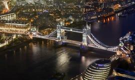 Tower Bridge in London city. Night scene Stock Images