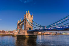 Tower bridge of London, clear blue sky. Stock Photography