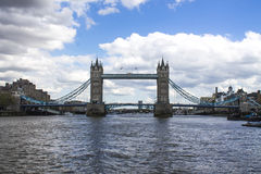Tower Bridge London. Coloured photo of Tower Bridge London from the Thames Royalty Free Stock Photos
