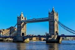 Tower Bridge in London crosses River Thames Royalty Free Stock Images
