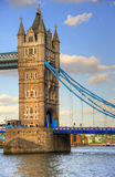 Tower Bridge London detail of tower Stock Photos