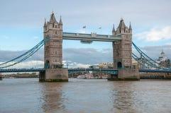 Tower Bridge in London at dusk Stock Photo