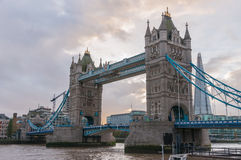 Tower Bridge in London at dusk Stock Photos