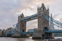 Tower Bridge in London at dusk Stock Photos
